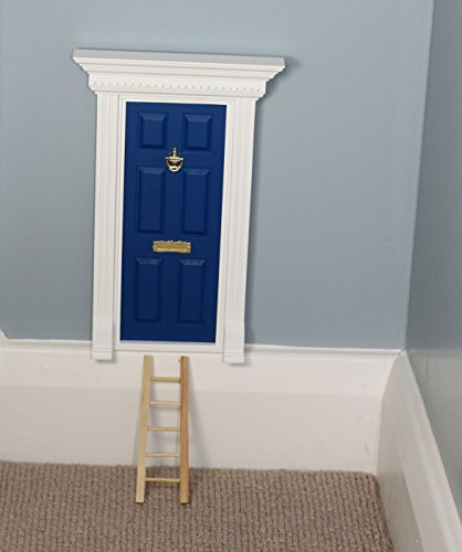 Fairy Door - The Best Beach Hut Blue Magic Door with Ladder set for your child's room - perfect for bringing fun, adventure and magic to your home - Tiny Door