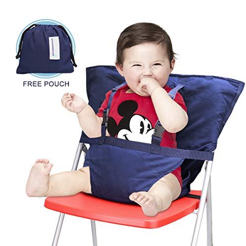 ess, Portable Infant Toddler Child Children Highchair Seat Safety Harness with Adjustable Shoulder Straps, Dark Blue ()