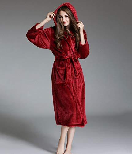 Con Invierno Camisones Winered Sólido Color Cinturón Caliente Bolsillos Manga Outwear De Larga Dormir Moda Ropa Abrigos Mujer Delanteros A8xwg5d8