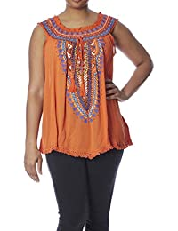 Love Collection Women Blouse – Plus-Size Printed Gauze Top