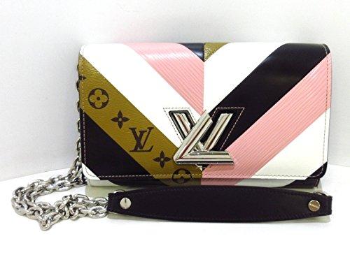 (ルイヴィトン) LOUIS VUITTON 財布 ポルトフォイユツイストチェーン ピンク×白×黒×モノグラムリバース M64348 【中古】 B07FCH471P