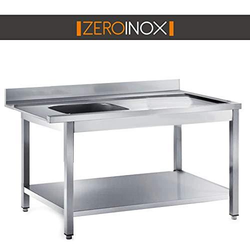 ZeroInox Mesa Salida con bañera - Profundidad 75 - Todas Las ...