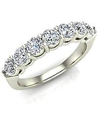 Jewelry & Watches Diamond Modest Diamond Ring Band Set Anniversary Ornamented 18 Karat White Gold 1.74 Carat