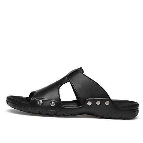 45 grandi Mens da antiscivolo Color EU 2018 spiaggia Nuovi fondo Nero uomo casual morbido dimensioni Dimensione traspiranti Pantofole di da shoes Nero sandali vdqqR