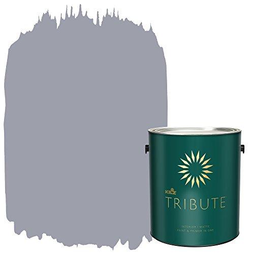 KILZ TRIBUTE Interior Matte Paint and Primer in One, 1 Gallon, Aviator Silver (TB-34) (Primer Furniture For Best)