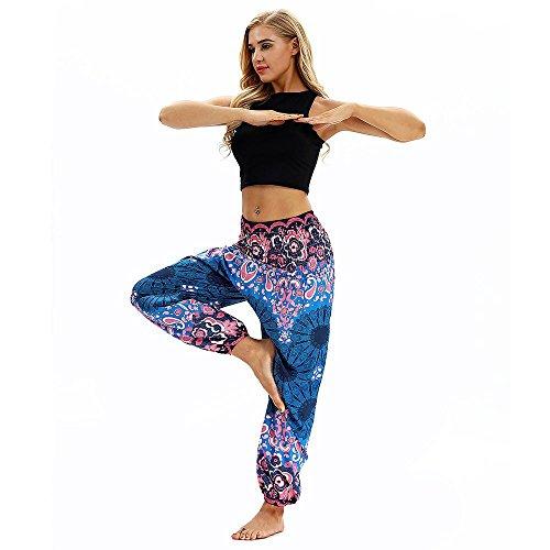Pants Beach Mujer Yoga Yoga Pantalones Estampado El Travel Harem Festival Deportivas Suelto Lounge Trousers Mujer para p7PUqxSp