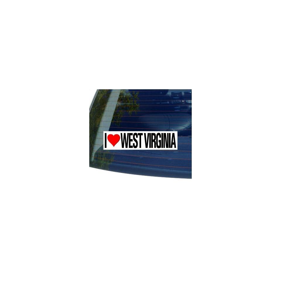 I Love Heart WEST VIRGINIA   Window Bumper Sticker