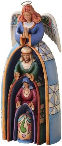 Enesco Jim Shore Heartwood Creek Nestled Holy Family Nativity 4-Piece Set, 9-3 4-Inch