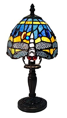 Fine Art Lighting Tiffany 5 by 12 Inch Table Lamp, 168 Glass Cuts, Mini