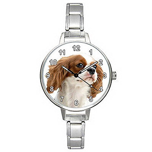 Spaniel Italian Charm Watch - BMTC009 Cavalier King Charles Spaniel Dog Italian Charm Bracelet Mens Ladies Watch