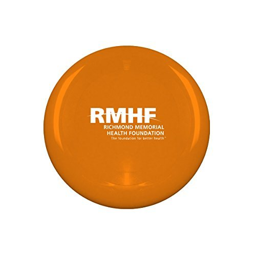10'' Flying Frisbee Style Hard Plastic Disc - Orange - Promotional Product - Your Logo Imprinted (Case Pack of 100)