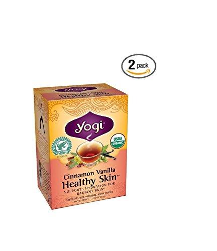 Yogi Teas Cinnamon Vanilla Healthy Skin Tea 16 Tea Bags Case