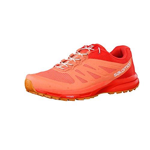 Poppy Coral (Salomon Sense Pro 2 Running Shoe - Women's Living Coral/Poppy Red/Bright Marigold, US 8.5/UK 7.0)