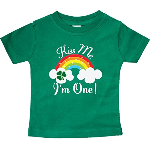 ay Kiss Me Im One Baby T-Shirt 12 Months Kelly Green 2f0d2 (Im Irish T-shirt)
