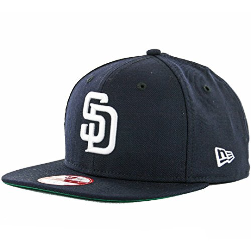 New Era 9Fifty San Diego Padres Snapback Hat (Navy/White) Men's Custom Wool Cap – DiZiSports Store