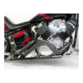 Yamaha V Star 1100 Curburner Exhaust Black
