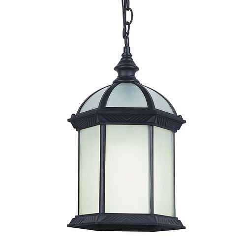 Trans Globe Lighting PL-4183 BK Outdoor Wentworth II 17.5'' Hanging Lantern, Black by Bel Air Lighting