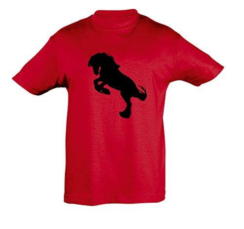 Cheval Et Fille Garçon Shirt Enfants Red Pour 2store24 wfO4Ta