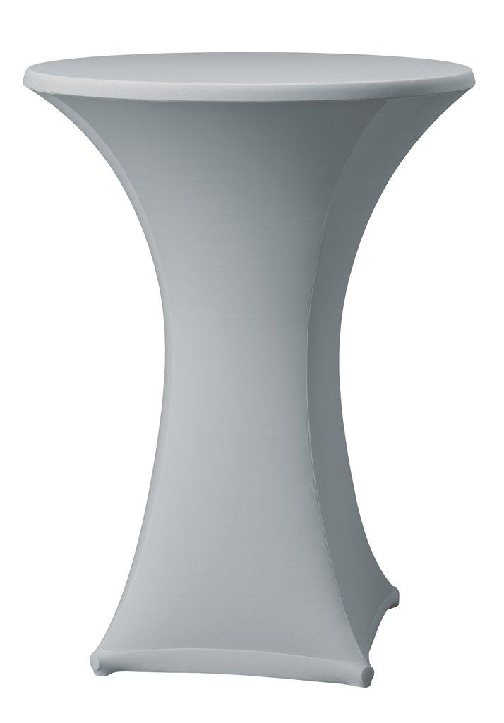 Dena 023702 Fodera stretch per tavoli alti da bar Samba D1, diametro Ø70 cm, Bianco