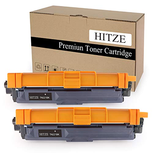 Hitze Compatible Toner Cartridge Replacement for Brother TN221 TN-221 for Brother HL-3170CDW HL-3180CDW HL-3140CW MFC-9330CDW MFC-9340CDW MFC-9130CW (Black,2pack)
