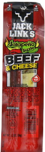 Jack Link's Jalapeño Beef & Cheese Combo Pack, 1.2 oz., Pack of 16 - Original 100% Beef Stick and Cheese Stick Made with Real Wisconsin Cheese - 7g Protein, Made with 100% Premium Beef