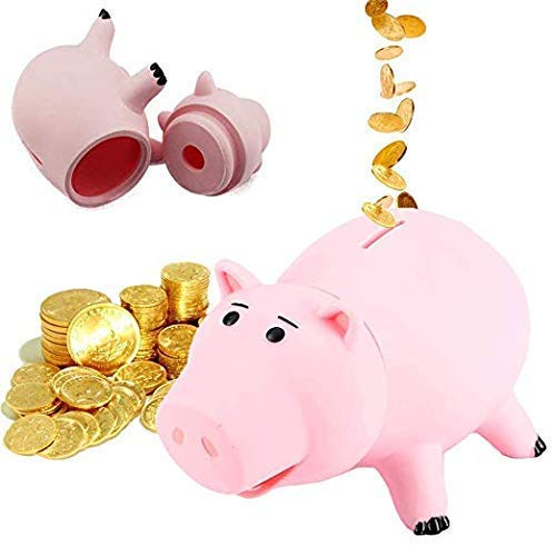820cm Toy Story Hamm Piggy Bank Pink Pig Coin Box PVC Model Toys For Children by PJs Toybox