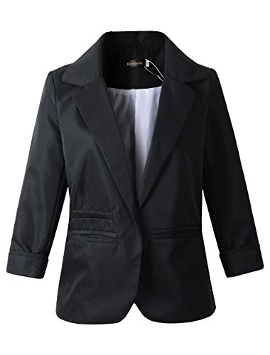 - Women's Boyfriend Blazer Tailored Suit Coat Jacket (XL, 503Black)