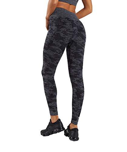 Yoga Pants for Women Seamless Camo High Waisted Gym Sport Running Workout Leggings (Black, Medium)