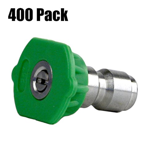(400) Erie Tools 4.5 Stainless Steel Orifice 25 Degree 1/4'' Quick Connect 4,000 PSI High Pressure Washer Spray Nozzle Tips by Erie Outdoor Power Equipment