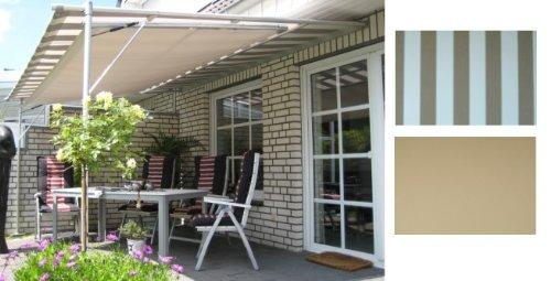 Leco Luxus Markise Vlexy Plus 3x4m Terrassenüberdachung braun gestreift