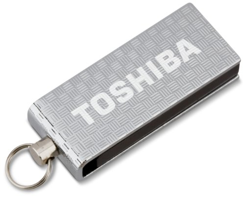 Toshiba 16 GB Micro Swivel USB Flash Drive, Chrome (PA3879U-1MAS)
