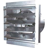 MaxxAir IF14UPS 1400-CFM 14-Inch Blade Heavy-Duty Exhaust Fan with Integrated Shutter