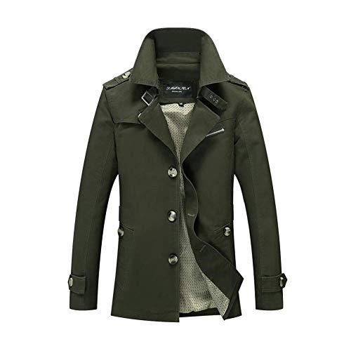 Simple Moyen 4 2018 Xxxl Manteau coloré Fuweiencore Taille Pour Homme 1 Boutonnage Court coat Hommes Trench Angleterre xYBCwCpqA