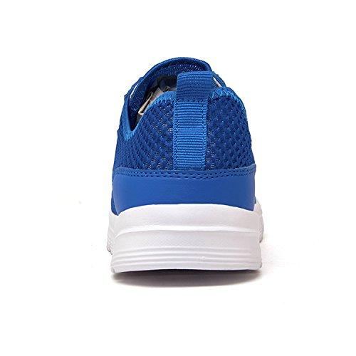 Badier Maille Léger Respirant À Séchage Rapide Eau Sport Running Slip-on Nager Marche Yoga Lac Plage Parc De Jardin Conduite Canotage Chaussures Casual Couples Pour Hommes Femmes Enfants Sneakers Bleu