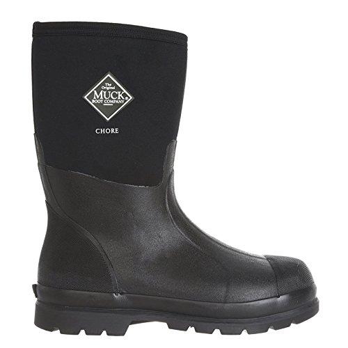 Muck Chore Classic Men's Rubber Work Boots, Black, size US 12M/Women's 13M ()