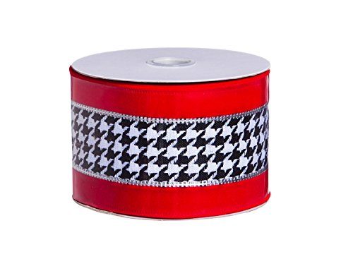 Cypress Home Red Houndstooth Tree Ribbon
