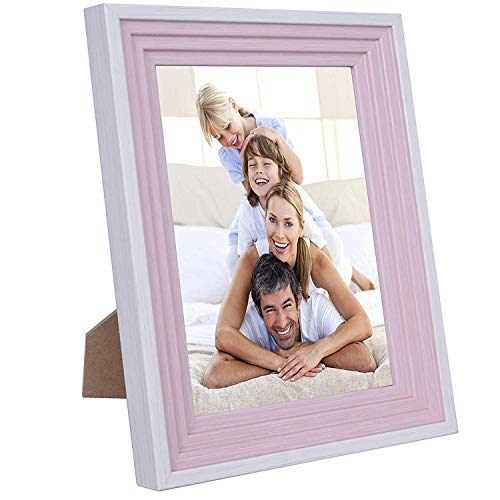 (WXB Home 5x7 Picture Frames White-Pink,PS Materials,HD PVC Transparent Board, Tabletop or Wall,Family,Scenery and Baby Photo)