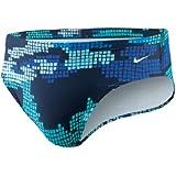 Nike Team Techno Camo Brief - Competitive Swim - TESS0042 Navy Size-30