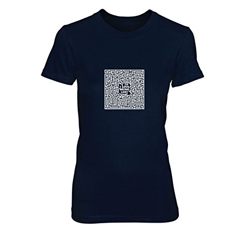 Love Being Lost - Damen T-Shirt, Größe: L, dunkelblau