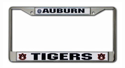 NCAA Auburn Tigers Chrome Plate Frame (Auburn Tigers Chrome License Plate)