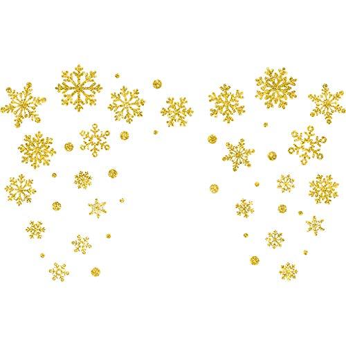 Afazfa Christmas Deer Sleigh Wall Stickers Home Christmas Decoration Wall Stickers -