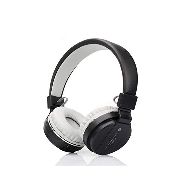 DZK Mi Oppo Vivo Compatible Bluetooth Headphone with FM and SD Card Slot Support Hands-Free Calling with Mic Vol Control