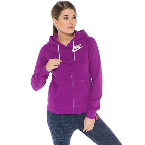Nike Damen Rally Full Zip Kapuzenpullover