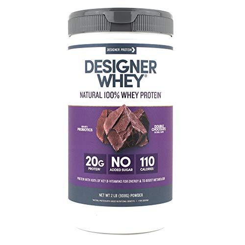 (Designer Whey Protein Powder, Double Chocolate, 2 Pound, Non GMO)