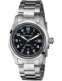 Men's HML-H70455133 Khaki Field Analog Display Swiss Automatic Silver Watch