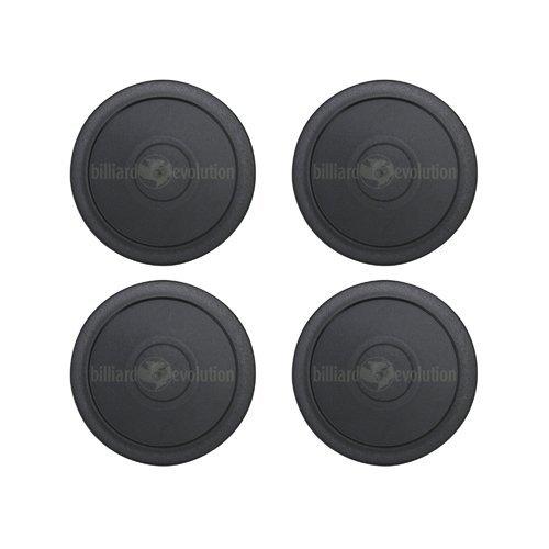 4 Black Round Air Hockey Pucks Billiard Evolution