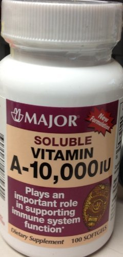 Special Pack of 5 Vitamin A WATER SOLUBLE 10000 IU 100 CAPSULES X 5
