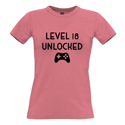 Livello 18 sbloccato il regalo di compleanno per i giocatori Anni T-Shirt Da Donna