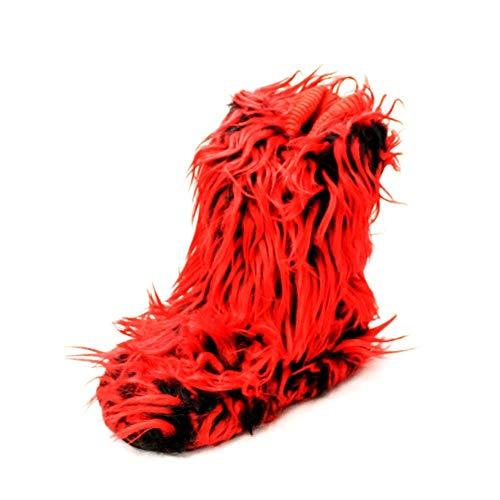 Rouge Fourrure Rouge Noir Bottes de sendit4me Pantoufle Yeti C14qvp7