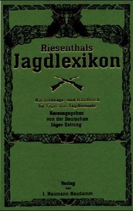 Riesenthals Jagdlexikon